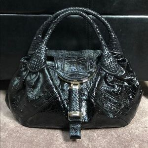 Fendi Patent Large Spy Bag